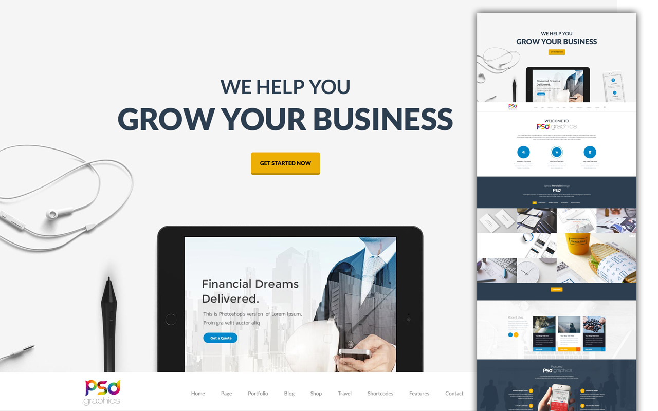 web templates professional business website template free psd download K4i5l293