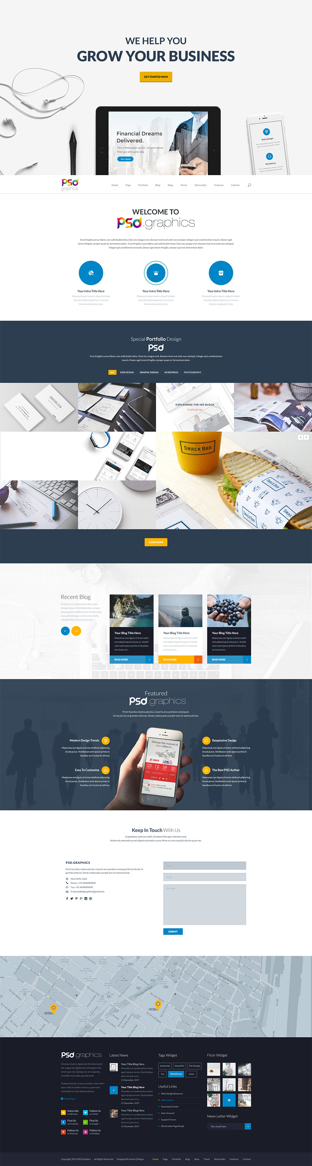 Professional business website template free psd psd graphics professional business website template free psd cheaphphosting Gallery