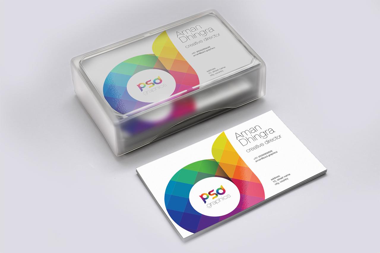 Business Card Mockup Free PSD Graphics