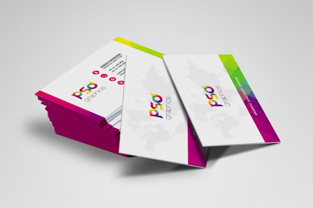 colorful business card free psd graphics