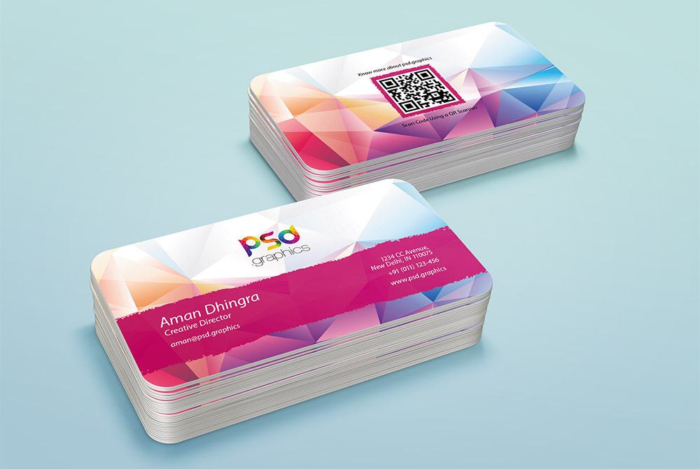 Rounded business card template psd psd graphics rounded business card template psd reheart Choice Image