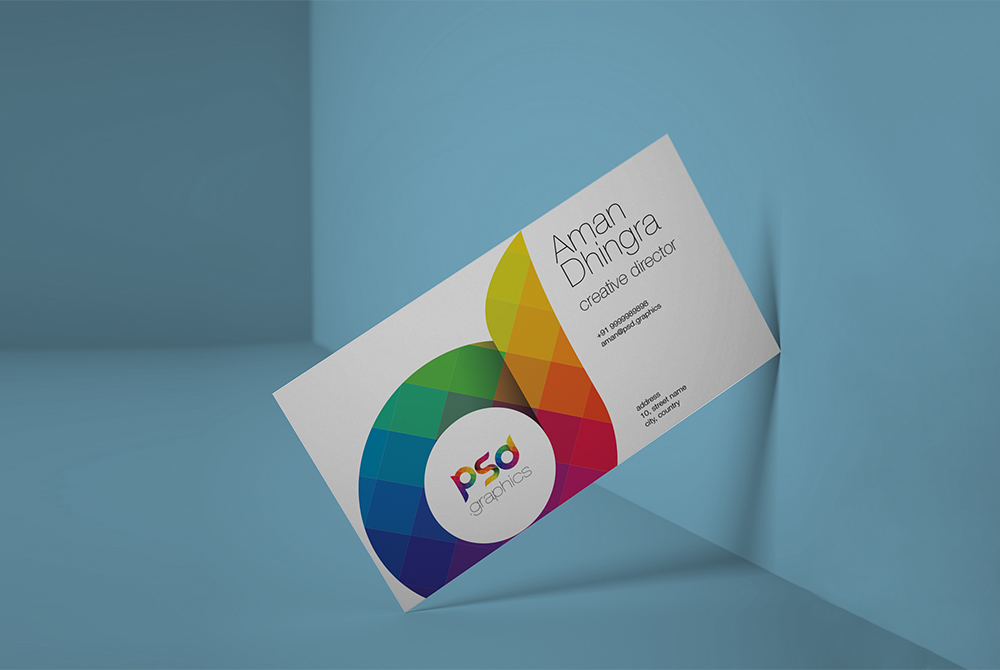 Clean business card mockup free psd psd graphics clean business card mockup free psd wajeb Gallery