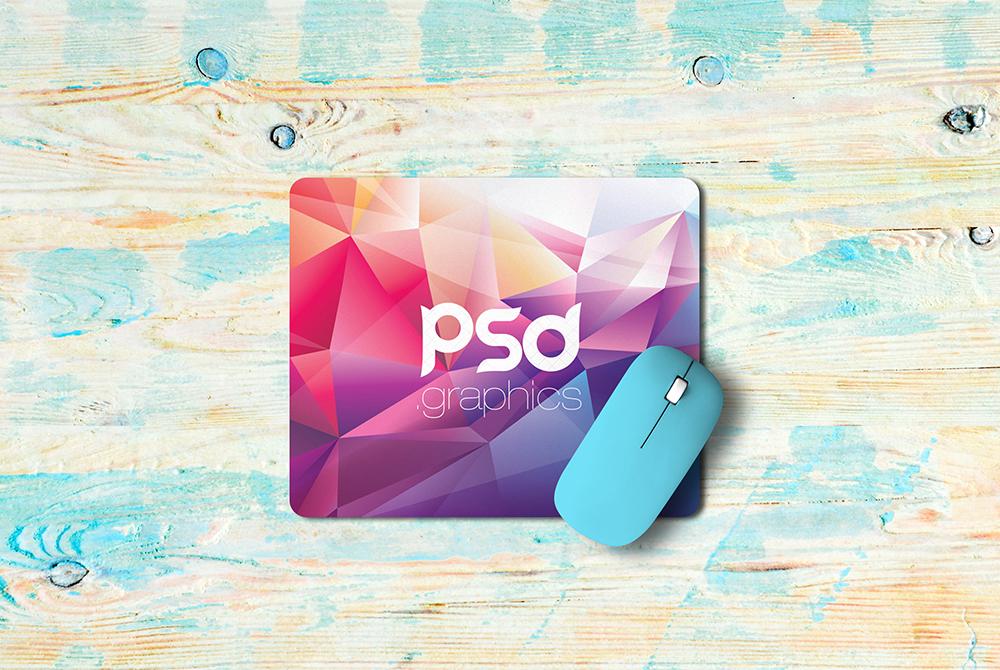 Mouse Pad Mockup Free PSD