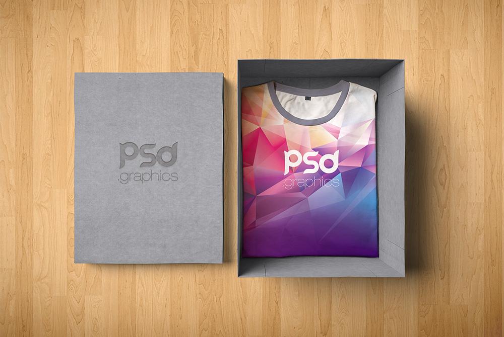 TShirt Box Packaging Mockup Free PSD   PSD Graphics