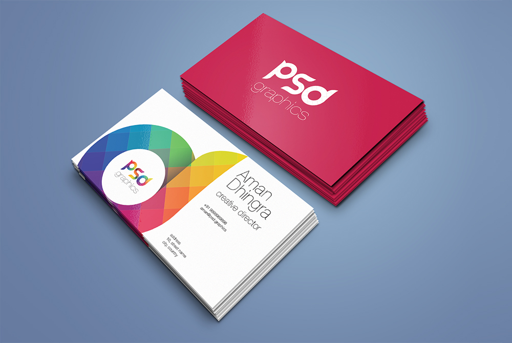 Business card mockup template free psd psd graphics business card mockup template free psd reheart Images