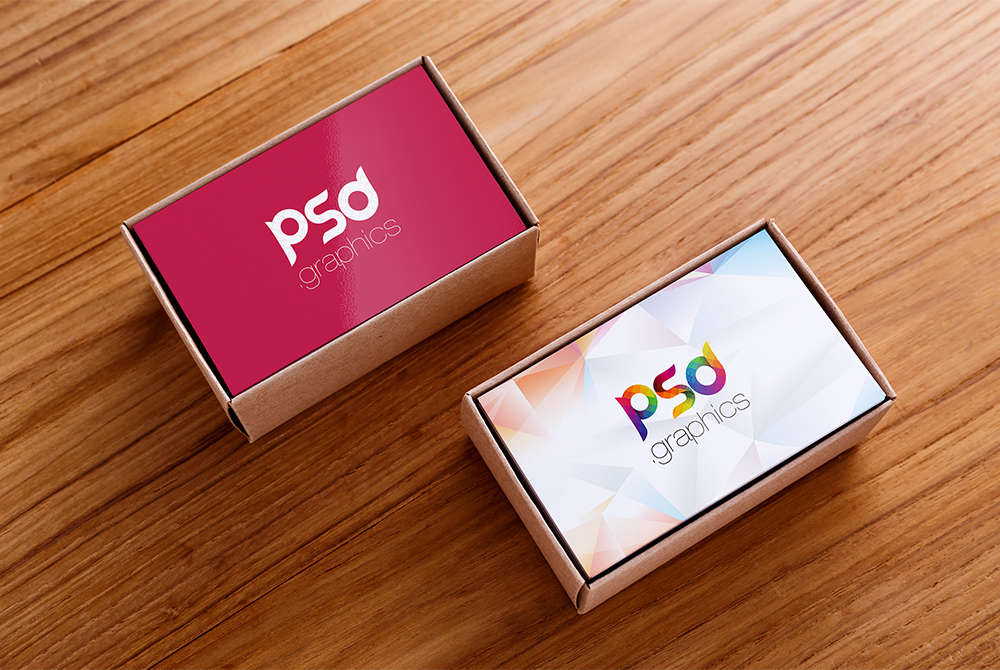 Business Card Box Mockup Free PSD