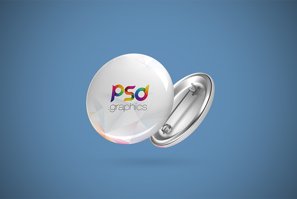 pin button badge mockup free psd psd graphics