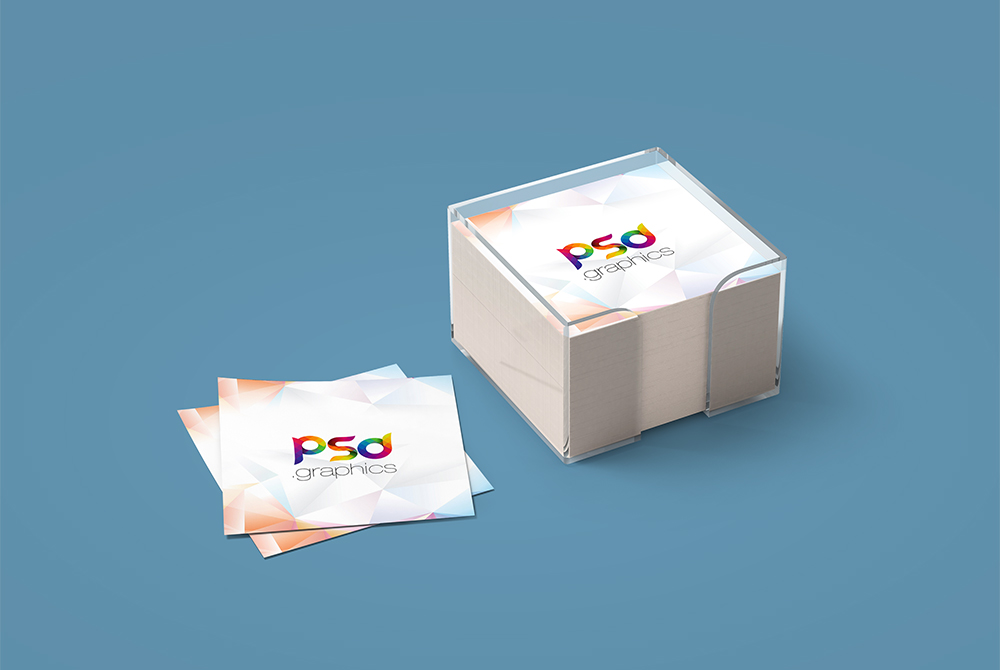Sticky Notes Branding Mockup Free PSD