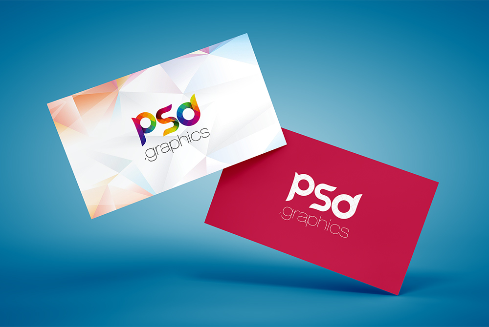 Floating Business Card Mockup Free PSD | PSD Graphics