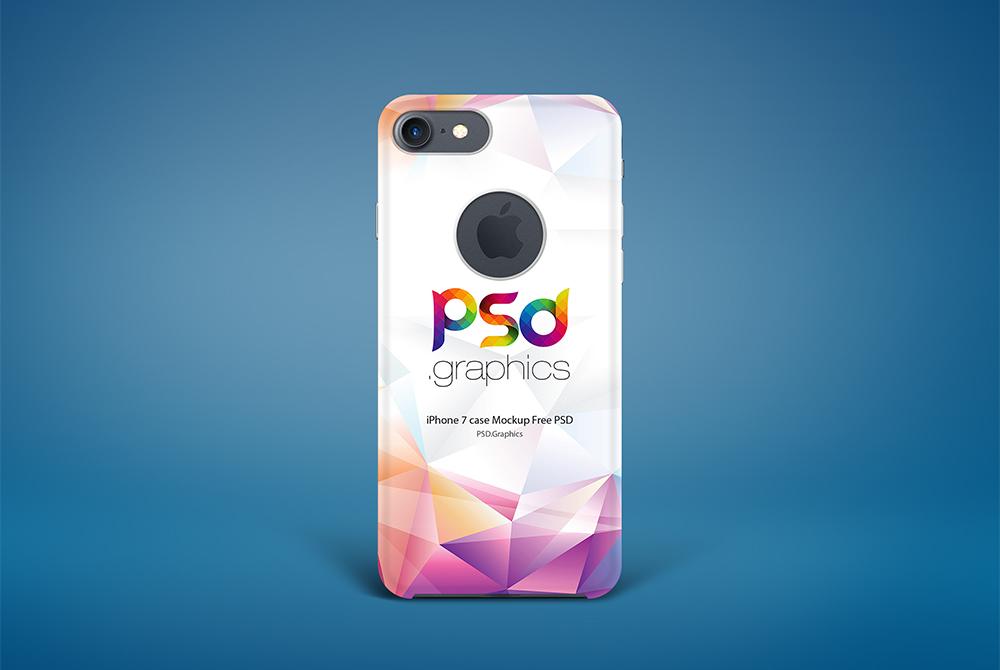 iPhone 7 Case Mockup Free PSD