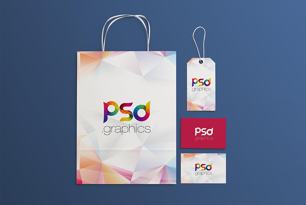 Shopping Brand Identity Mockup Free PSD