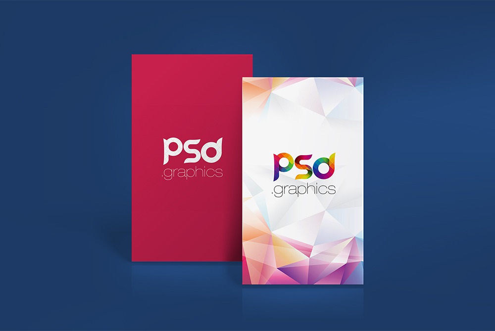 Vertical business card mockup free psd psd graphics reheart Images