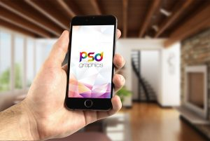 iPhone-in-Hand-Mockup-PSD