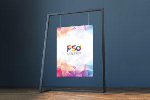 Hanging Poster Mockup Free PSD