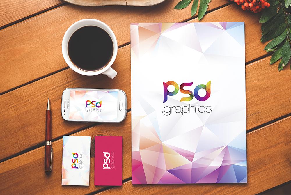 Free Branding & Stationery PSD Mockup