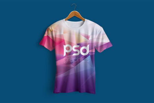 Hanging T-Shirt Mockup PSD