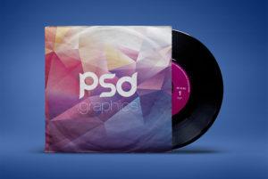 Vintage Vinyl Record Sleeve Mockup Free PSD