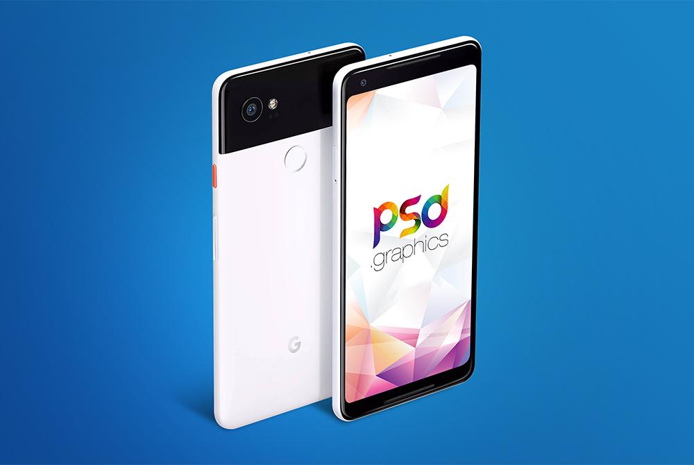 Google Pixel 2 XL Mockup Free PSD