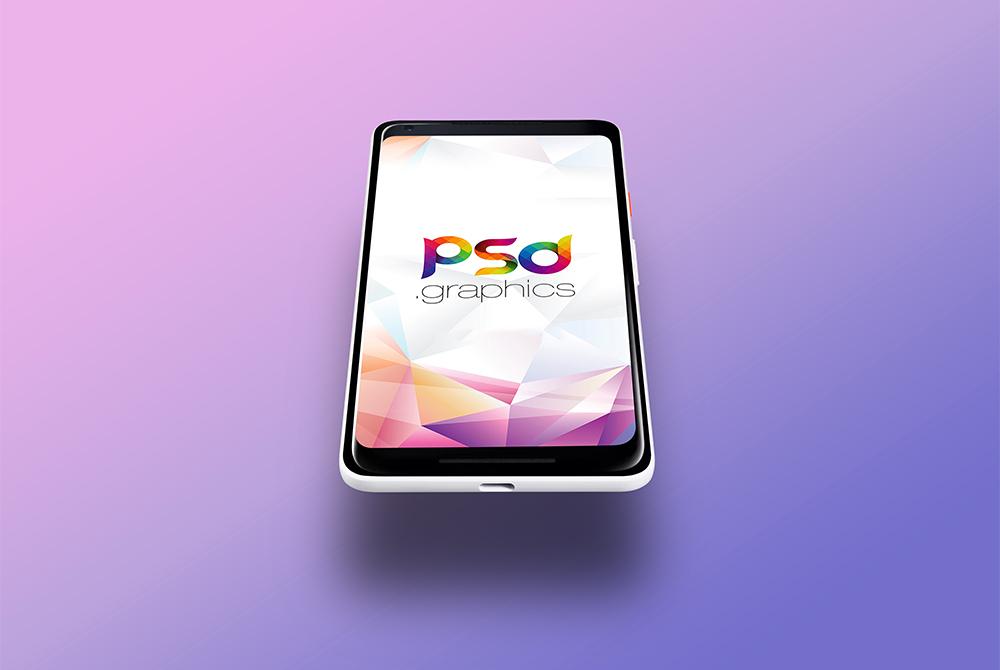 Google Pixel 2 Mockup Template PSD
