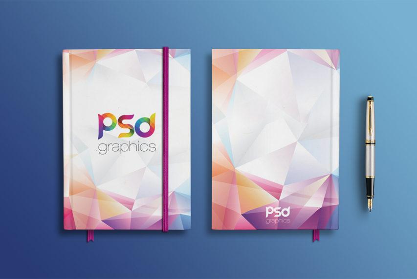 Notebook Branding Mockup Free PSD