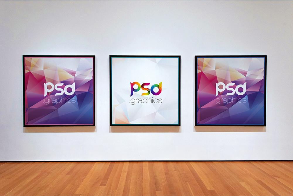 Photo Gallery Frame Mockup Free PSD