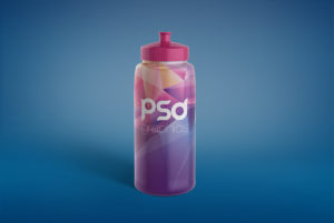 Sport Water Bottle Mockup Free PSD