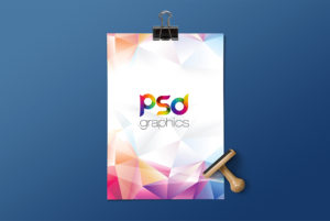 A4 Paper Mockup Template PSD