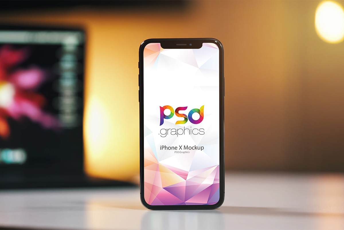 Beautiful iPhone X Mockup PSD