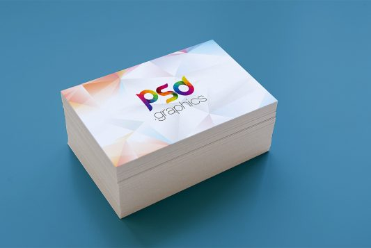 Business Card Stack Mockup PSD