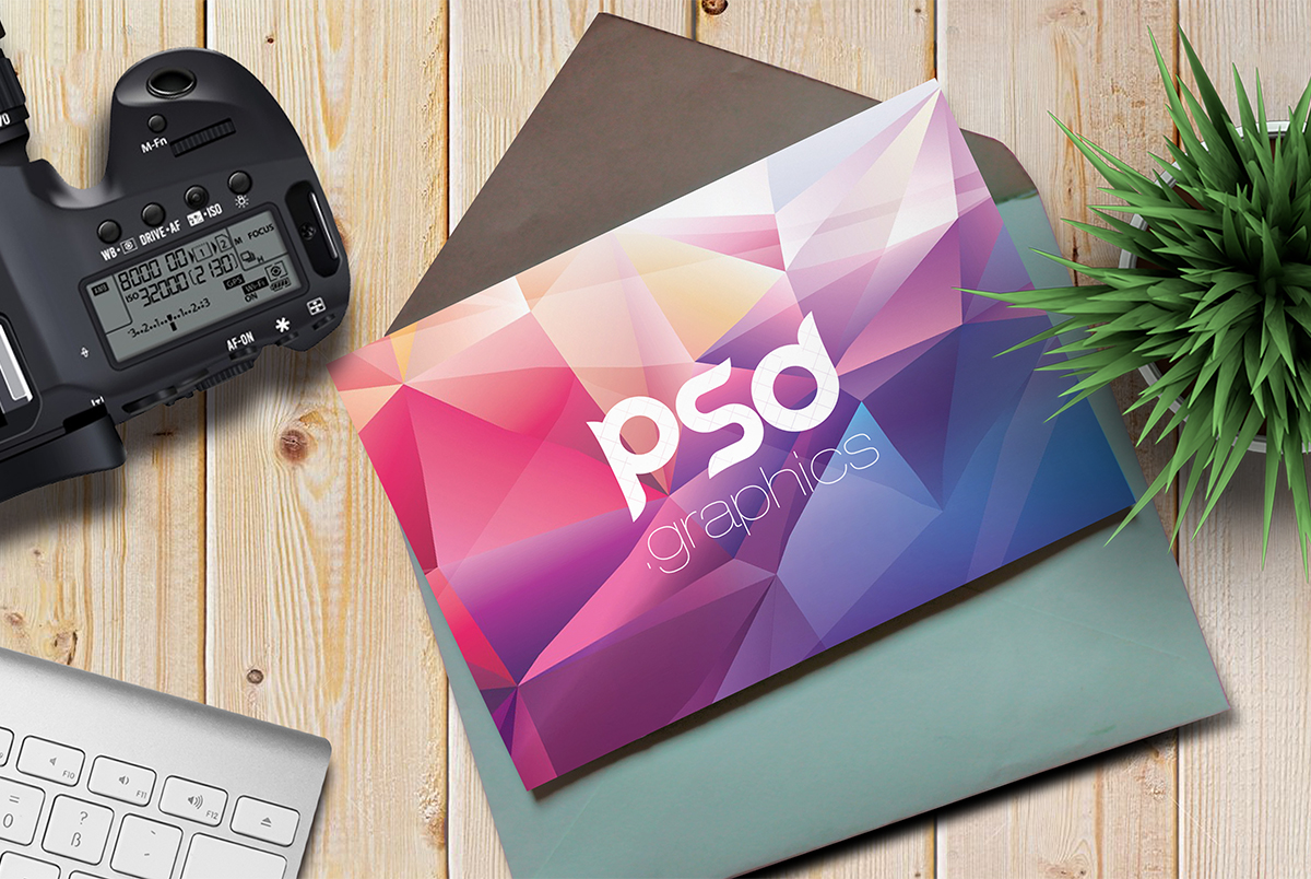 Greeting Card Template Mockup PSD