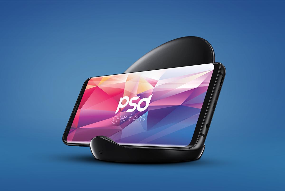 Samsung Galaxy S9 Mockup Free PSD