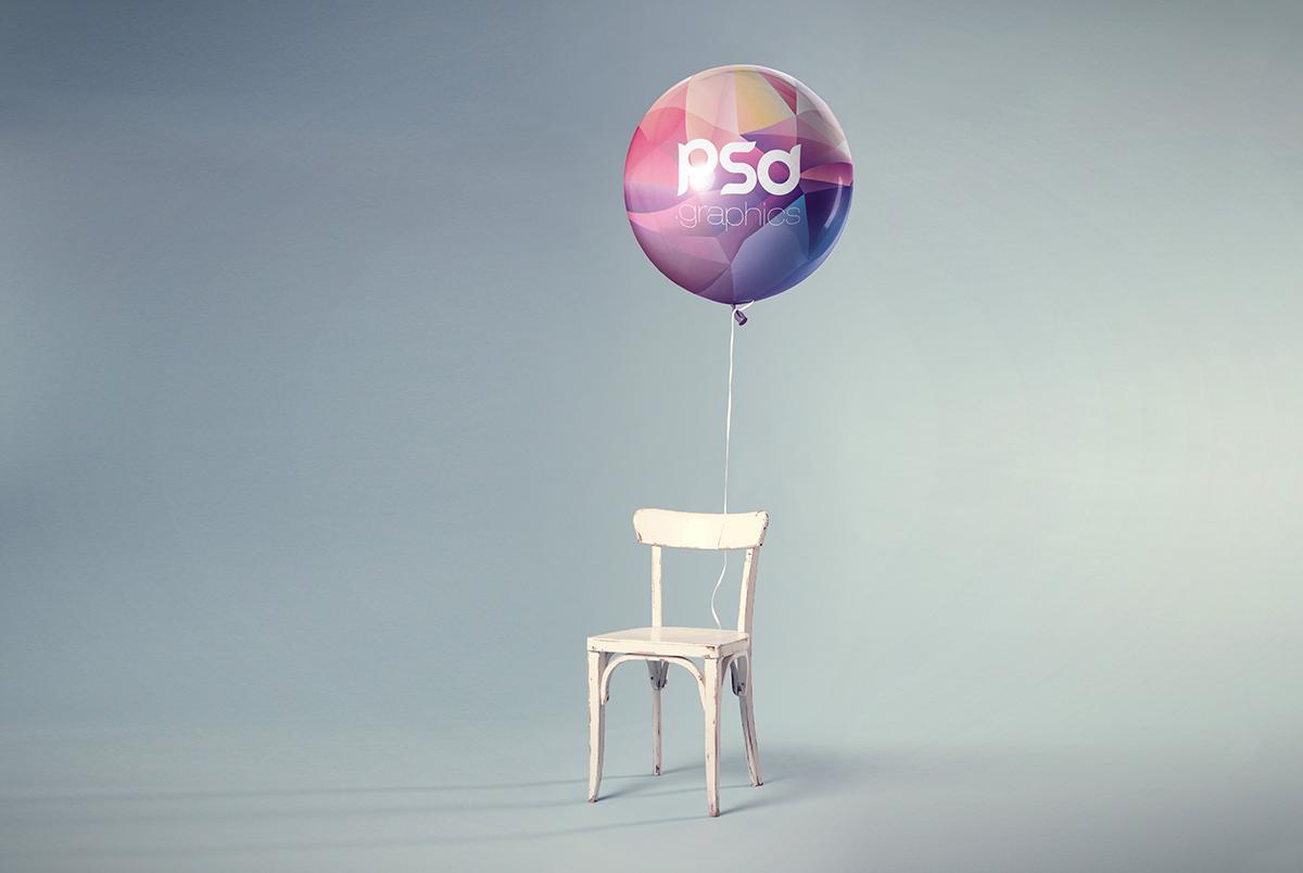 Balloon Mockup Free PSD