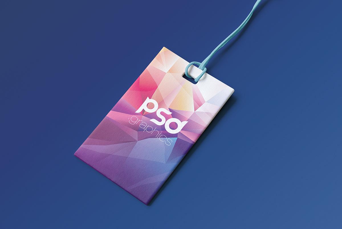 Brand Label Tag Mockup PSD
