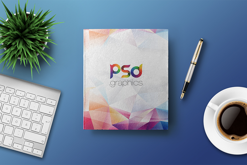 Hardcover Book Mockup Free PSD