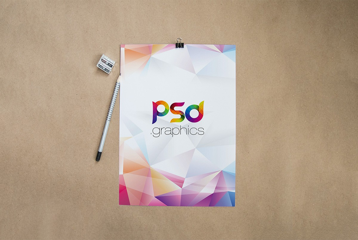 Resume CV Mockup Template PSD