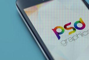 Close-Up Mobile Screen Mockup PSD