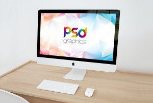Free iMac Mockup PSD
