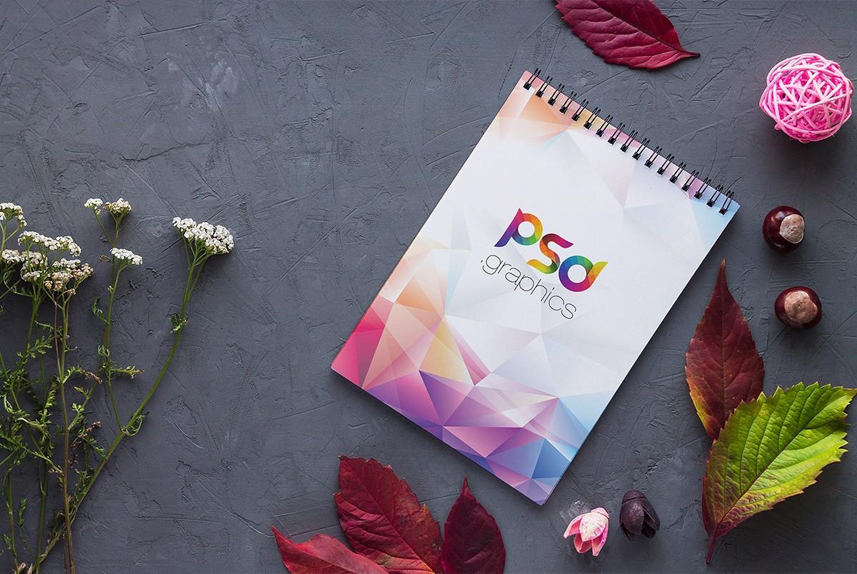 Spiral Notebook Mockup PSD