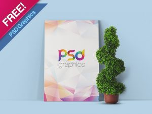 Poster Canvas Mockup PSD