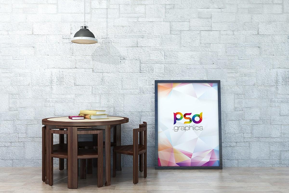 Large Poster Mockup PSD