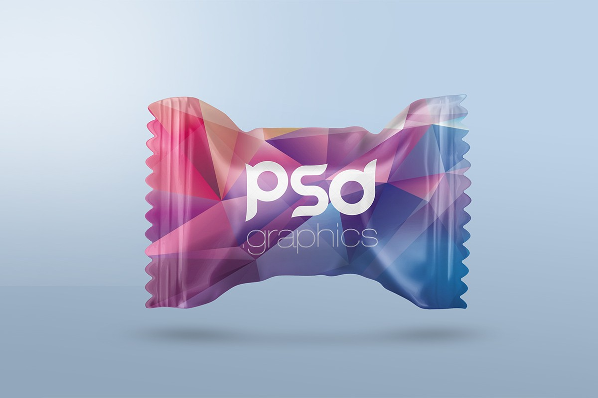 Candy Packaging Mockup PSD