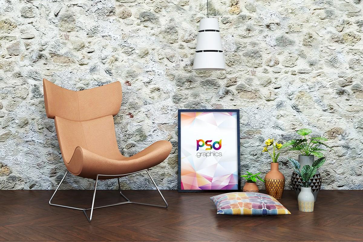 Poster Frame PSD Mockup
