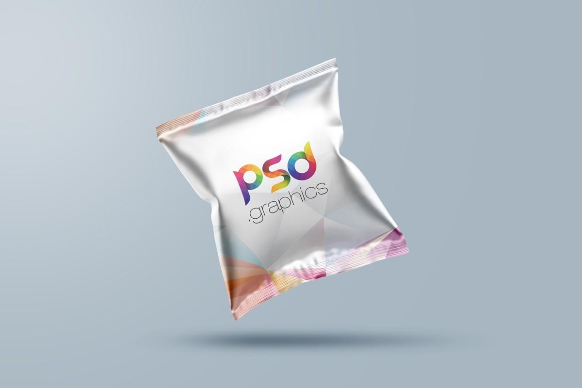 Free Snack Bag Packaging Mockup