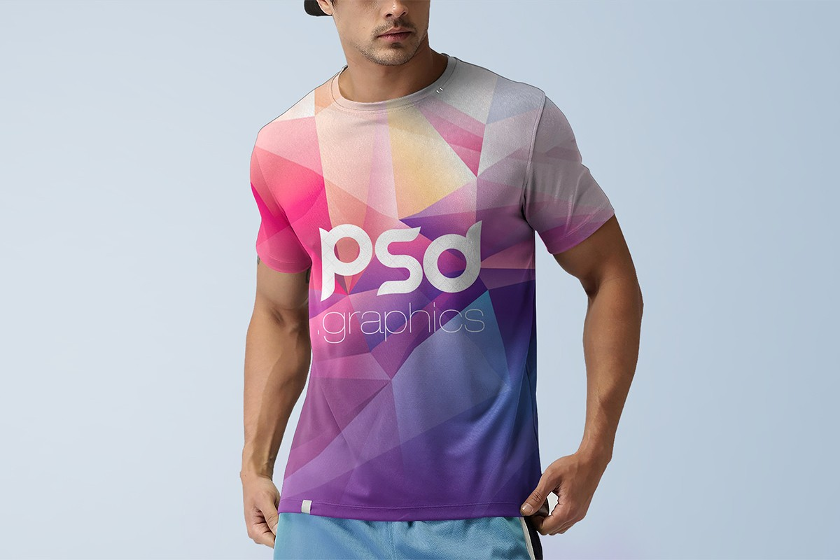 Men T-Shirt Mockup Template PSD