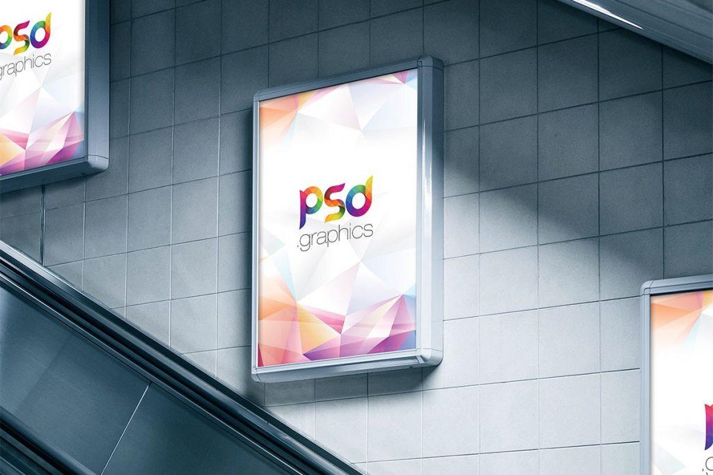Subway Advertising Billboard Mockup | PSD Graphics