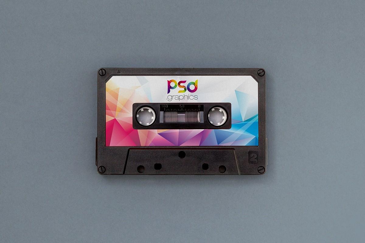 Audio Cassette Mockup PSD