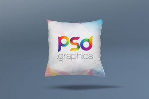 Square Pillow Cushion Mockup PSD