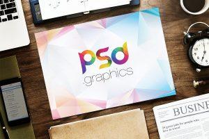 Horizontal A4 Paper Mockup PSD