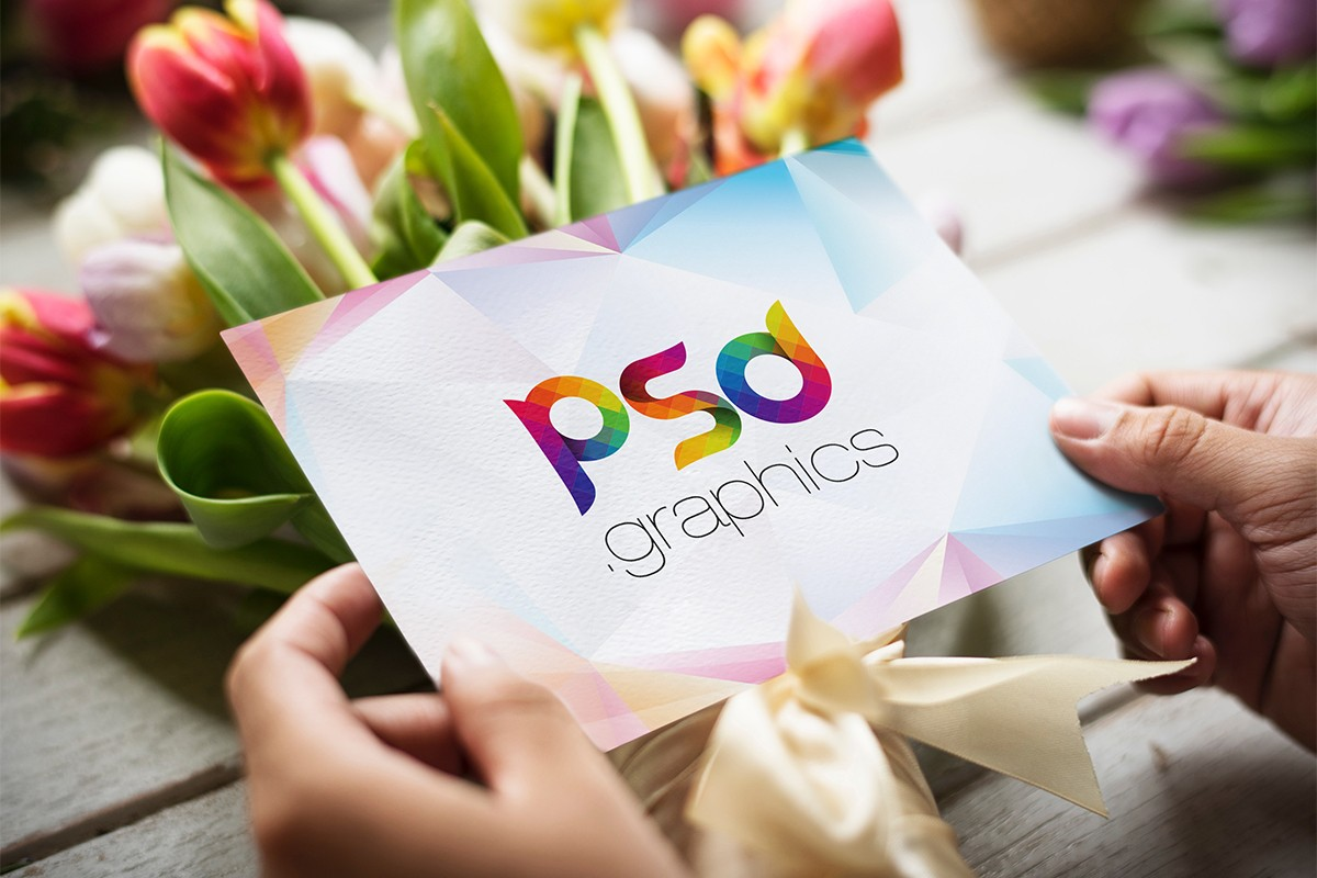 5x7 Greeting Post Card Mockup