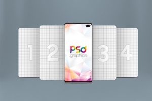 Galaxy S10 Plus Mockup PSD